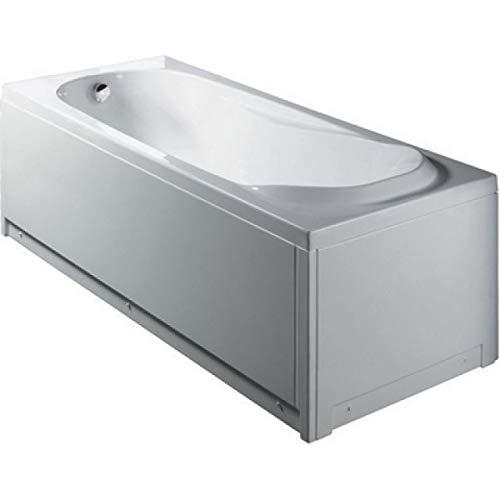 Bañera rectangular sin hidromasaje con paneles mod. diamante 150 x 70 cm