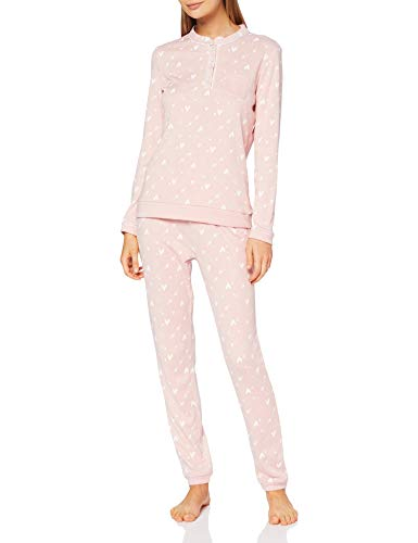Damart Pyjama THERMOLACTYL-50655 Juego de Pijama, Nude Imprime, L para Mujer