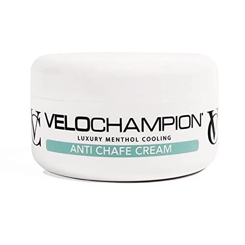 VeloChampion Luxury Crema de Gamuza Anti-Rozaduras 150ml. para Ciclistas y Corredores. Evita Las Rozaduras y Las molestias. (150 ml, Mentol)