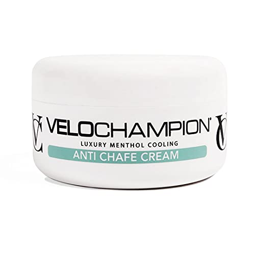 VeloChampion Luxury Anti Chafe Chamois Cream Menthol Fresh Moisturising Cream. Reduces Friction and Discomfort (150ml)