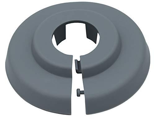 10 Einzel Rosetten für Rohrdurchbrüche 18 mm  WEISS Einzelrosetten
