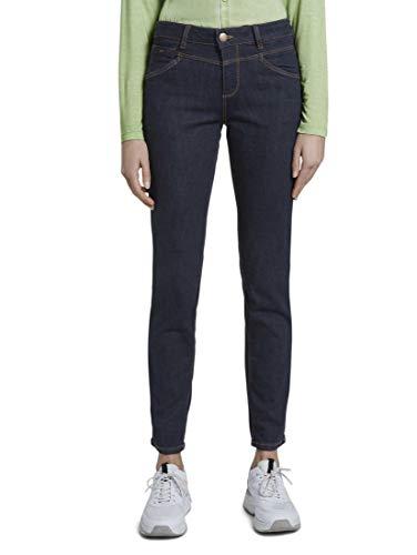 TOM TAILOR Damen Jeanshosen Alexa Slim Jeans Rinsed Blue Denim,29/30