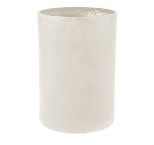 Amedeo Design 2513-232L Maceta cilíndrica modular de resina, 45,7 x 45,7 x 45,7 cm, piedra caliza