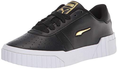PUMA Cali Sneaker para mujer, Negro (blanco, negro, dorado (Black/White/Team Gold)), 36.5 EU