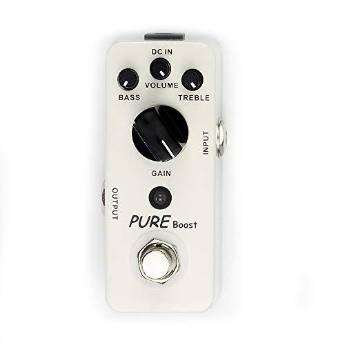 ギターエフェクターペダル Pure BoostギターペダルエフェクトClean Boostペダルギターシングルエフェクトペダル (色 : 白, サイズ : Free size)