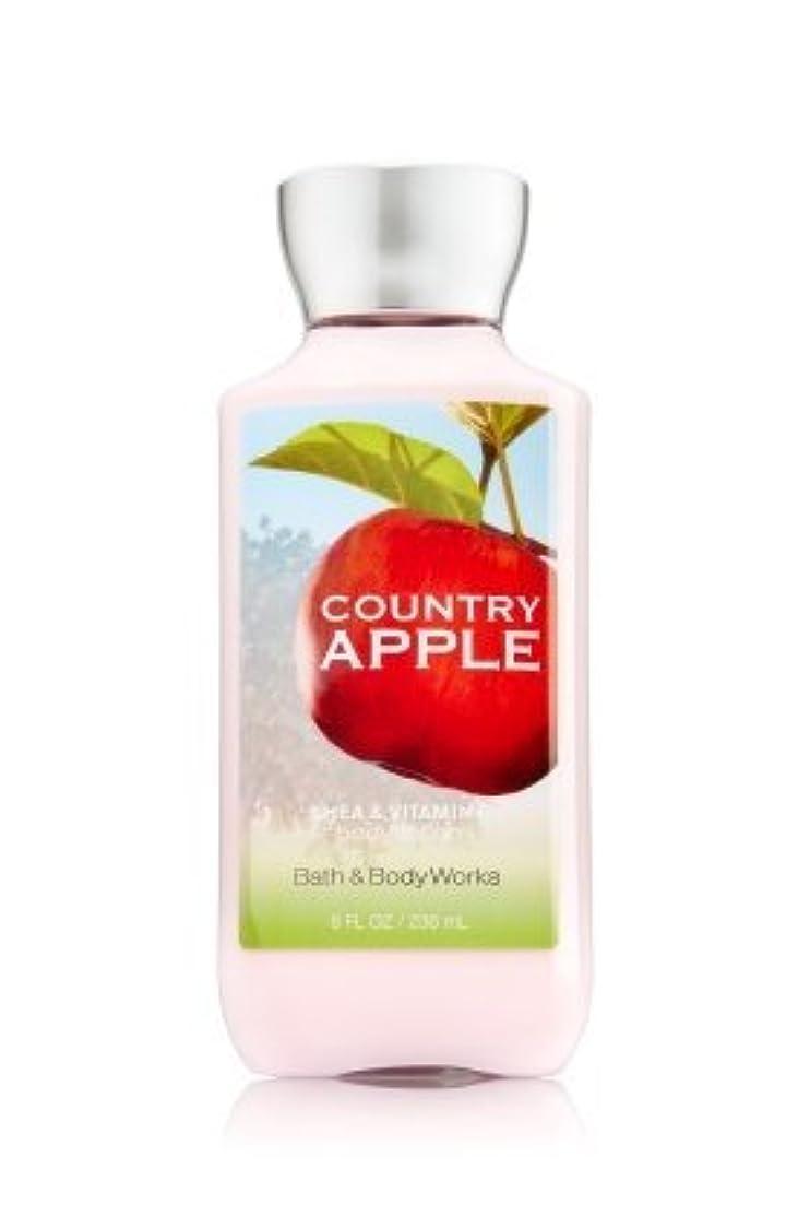 自動粘性のラケット【Bath&Body Works/バス&ボディワークス】 ボディローション カントリーアップル Body Lotion Country Apple 8 fl oz / 236 mL [並行輸入品]