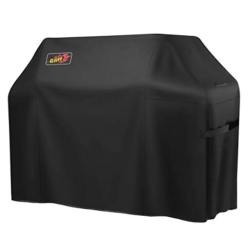 Homitt Gas Grill Cover, 64-inch 600D Heavy Duty Waterproof BBQ Cover with Handles and Straps for Most Brands of Grill -Black