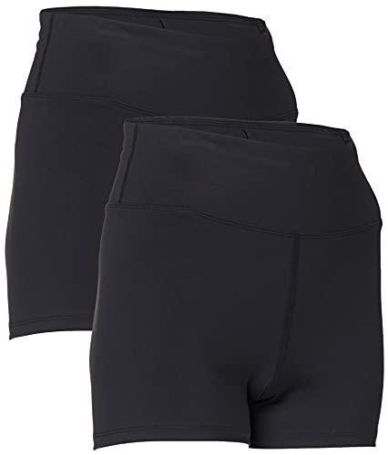 Marca Amazon - AURIQUE Shorts de Deporte Mujer, Negro (Black), 38, Label:S
