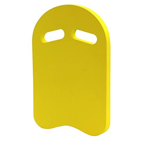Moligin Tabla de natación, Corcho de natación, Herramienta kickboard Espuma Flotador Ligero Eva ayudas a la formación en la Piscina para Adultos de los niños Principiante Amarillo