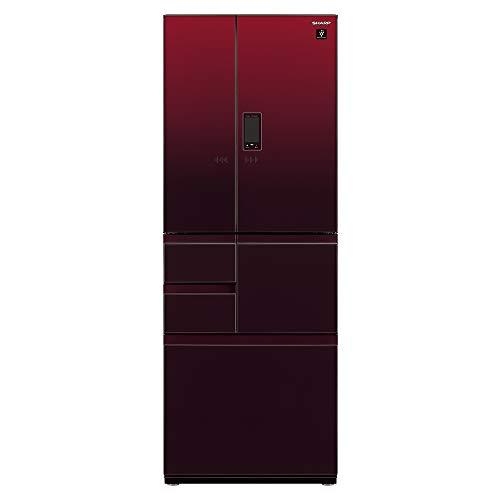 シャープ SHARP 冷蔵庫 プラズマクラスター(幅68.5cm) 502L ガラスドア/電動フレンチドア(観音開き) メガフ...