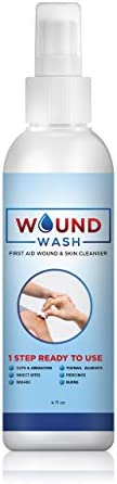 Natural Clean Wound Wash Pure Hypochlorous Acid Solution 150 PPM Wound Cleaning Spray Painless product image