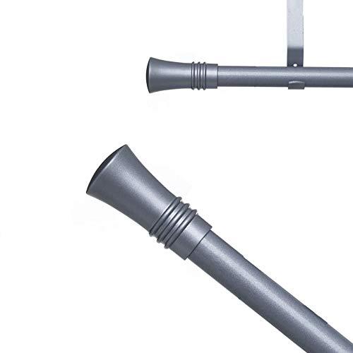 Home Gadgets Barra Cortinas Extensible para Salon 120-210 cm Gris