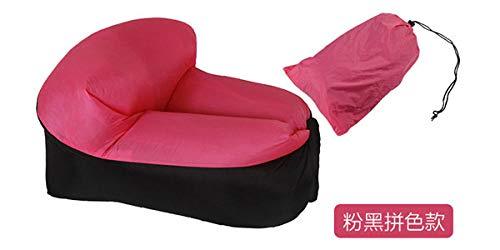 Stoel LKU Campingmeubilair lucht strandstoel zitkussen draagbare outdoor gras tuin opblaasbare bank, roze