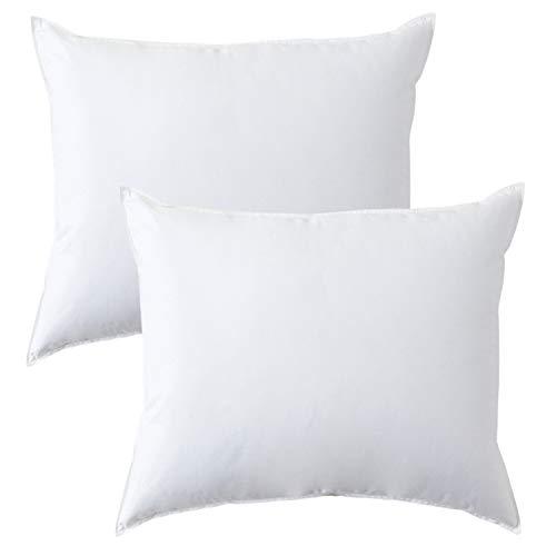 MACK - Premium Kissen Set mit Federfüllung | Federkissen für einen erholsamen Schlaf | 60x80 cm - 2er Set