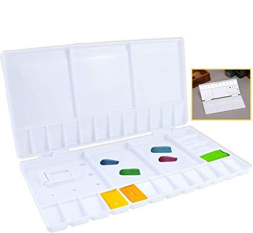 YG_Oline 33 Compartments Folding Paint Pallete, Plastic Watercolor Palette with Lid Travel Paint Pallet