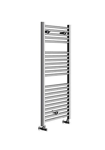 Radiateur Design Sèche-Serviettes Ocean Chromé à Eau Chaude 1110x500mm pour Salle de Bain.