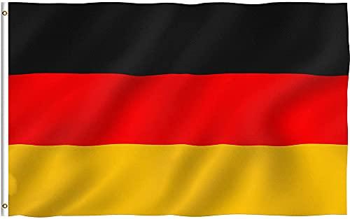 ドイツ国旗 ドイツの旗 特大150×90cmシア国旗 German flag ポリエステル旗ドイツの大きな旗 旗を揚げます 柔らかくて快適スポーツ 観戦 応援 フラッグ オリンピック 祝日 新年 運動会 代表応援用 市民の日 スポーツ 応援グッズ ワールドカップ 国旗 (Germany)