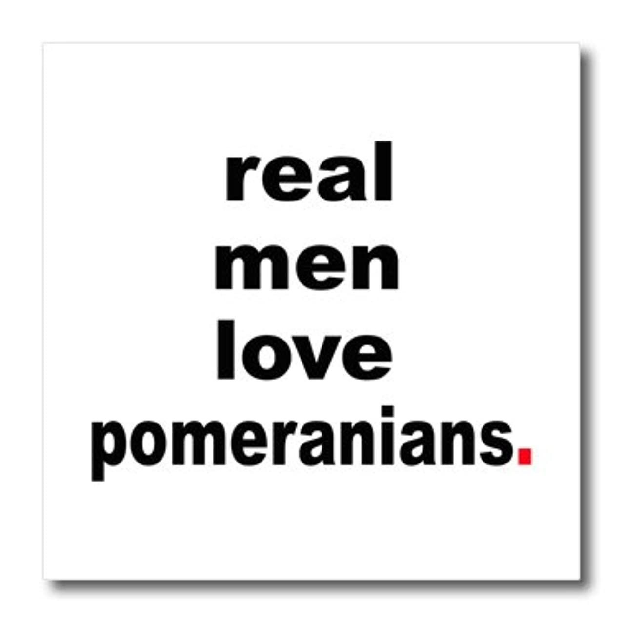 3dRose EvaDane - Funny Quotes - Real men love pomeranians - 8x8 Iron on Heat Transfer for White Material (ht_123079_1)