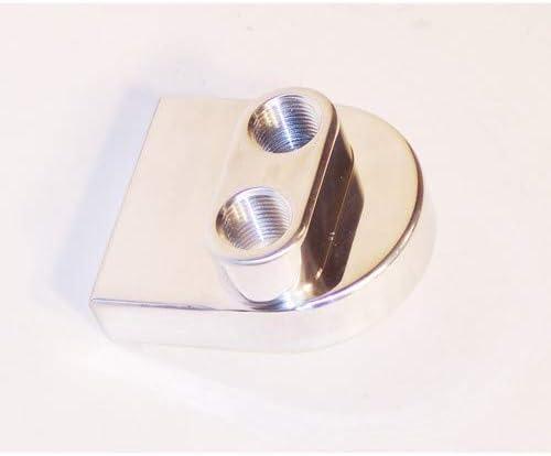 Oil Filter outlet Adapter Max 85% OFF Billet Aluminum Compa Facing Upwards Ports