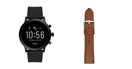 Fossil Smartwatch Gen 5 para Hombre con Pantalla táctil, Altavoz, frecuencia cardíaca, GPS, NFC y notificaciones smartwatch + Correa para Reloj S221300