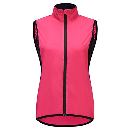 Chaleco Bici Mujer,Impermeable Transpirable Alta Visivilidad Vest MTB Chaleco Ciclismo Sportful,Adecuado para Correr,Andar En Bicicleta,Motocicleta Chaleco Bicicleta(Size:Metro,Color:Rojo)