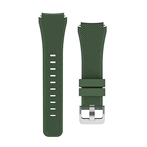 Correa de silicona de 22 mm para Samsung Galaxy Watch 46mm 42mm Correa deportiva para Samsung Gear S3 Frontier/Classic Active 2 Huawei Watch 2 (para Gear S3 Classic, color 3)