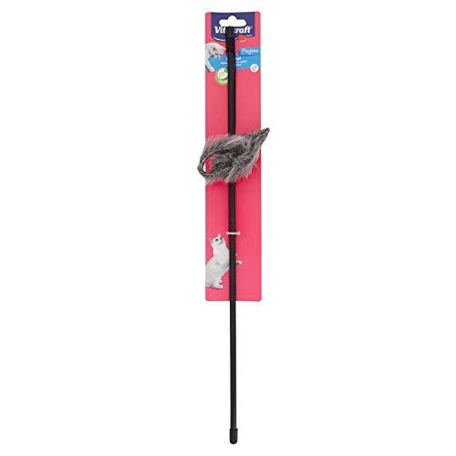 Vitakraft – 39903 – Leiste aus Kunststoff + Maus aus Fell – Pegboard