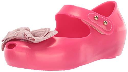 mini melissa Girls' Mini Ultragirl Sweet Mary Jane Flat, NE PNK MTT, 6 Medium US Toddler