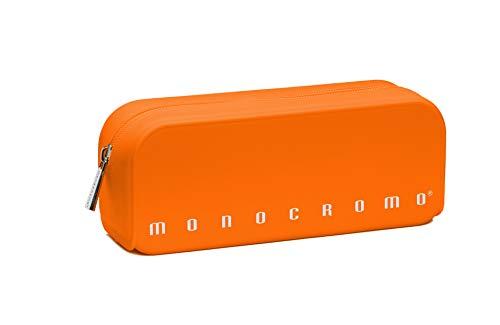 Pigna Monocromo Astuccio formato Bustina in Silicone, Arancio Fluo