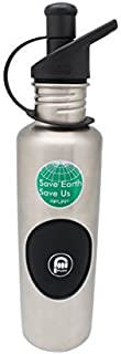 Ripuri survival, emergency, hiking, backpacking water bottle With Air Pump For Easy Drinking (includes 1 Filter+1 Cap), BP...