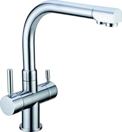 NZDY Grifo Grifo de 3 Vías Cromado Adecuado para Filtro de Agua Amway Grifo de Cocina Grifo Mezclador para Fregadero Grifo de Tres Vías para Sistemas de Ósmosis Sistemas de Agua Potable