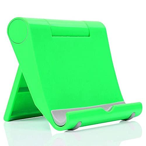 KASYU Soporte Universal para teléfono y Tableta,Plegable, ángulo Ajustable, Soporte para teléfono portátil, Adecuado para Todos los teléfonos y tabletas Samsung(Verde)
