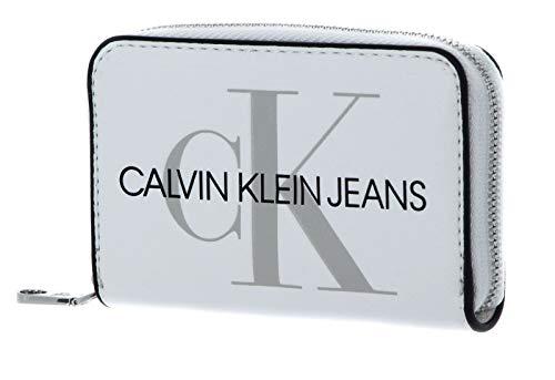 Calvin Klein Accordion Zip Around Bright White