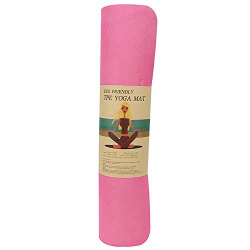 T best Alfombrilla de Baile, 183x61x0.6cm TPE Home Beginner Yoga Pad Cojín de Ejercicio Antideslizante Fitness(Rosado)