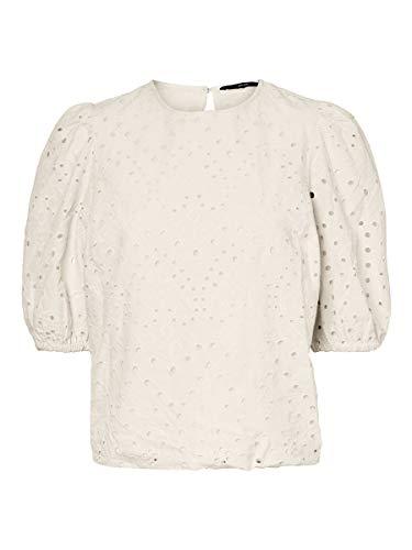 Vero Moda Damen VMNORAH 34 TOP WVN GA KI Bluse, Beige (Birch) , M