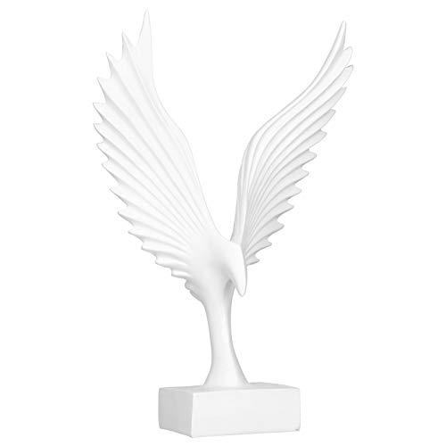 Haowecib Estatua de águila, Modelo de ala de Resina sintética Blanca, decoración del hogar para cumpleaños de inauguración