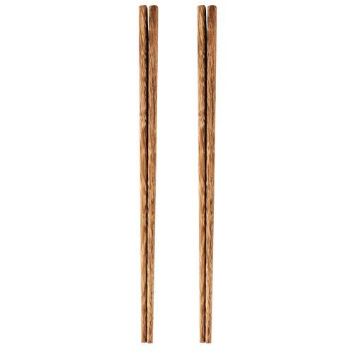 lange Holzstäbchen zum Kochen, extra lange chinesische Holzstäbchen für Hot Pot, Braten, Nudeln, Frittieren von Kochnudeln Rührei, 2 Paare-B