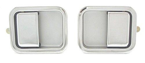 DELPA CL3468 > Outside Outer Exterior Left & Right Full Door Chrome Handles