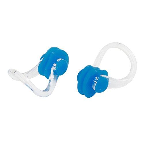 uxcell ノーズクリップ 泳ぐ鼻クリップ 鼻プロテクター プラスチック製 クリア ブルー ラバー 2個入り