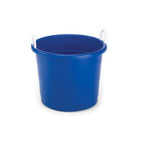 Homz Rope Handle Tub, 17 Gallon, Blue, Set of 8