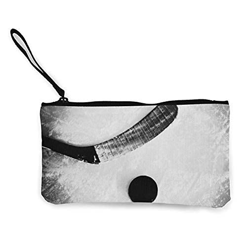 Estudiante de lona caja de lápiz de la pluma bolsa de monedero bolsa de maquillaje cosmético bola de hockey sobre hielo