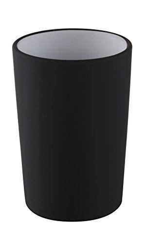 Nice Sea freistehend Kollektion Uni Design Zahnputzbecher, schwarz, 7,5x 7,5x 11cm