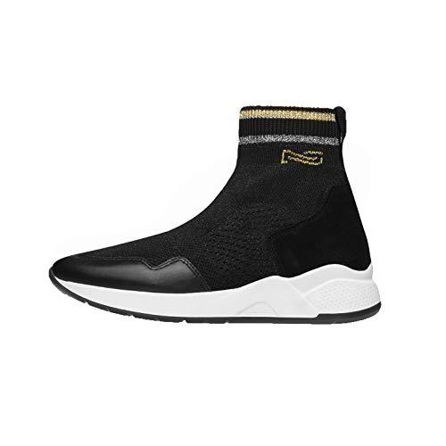 NeroGiardini A909033D Sneakers Donna in Pelle E Camoscio - Nero 37 EU