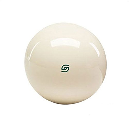 Aramith Magnetic Pool Cue Ball Phenolic Billiard Ball for Coin Operated Billiards Tables (Tournament Green Logo)