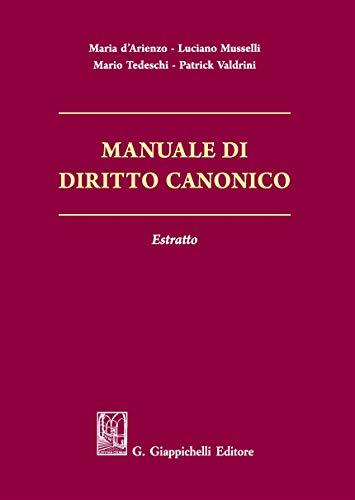 Manuale di diritto canonico. Estratto