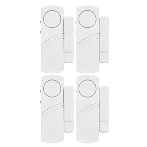 otutun Allarme per porta finestra, set da 4 sensori magnetici senza fili per porte e finestre, Campanello antifurto 90DB Wireless Magnetico Allarme Antifurto Sistema Sensori di Sicurezza Domestica