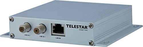 Telestar Digibit Twin Satelliten-IP Netzwerk Transmitter (HDTV, 2 SAT Eingänge, 1 LAN Ausgang) silber