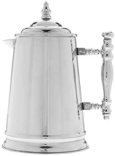 Francois et Mimi Vintage-Style Double Wall French Coffee Press, 34-Ounce, Stainless Steel