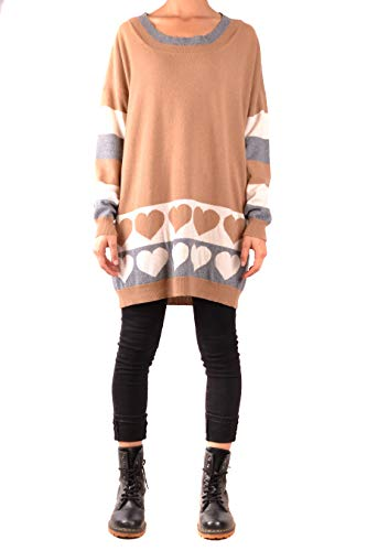 Twinset Milano Damen TA839B-03255 Pullover, Multicolore (Mult Camel Righe/Cuor 03255), XS