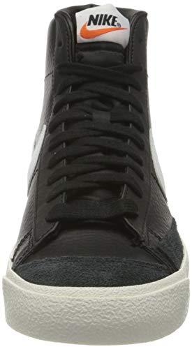 Nike Blazer Mid '77 VNTG, Zapatillas de bsquetbol Hombre, Black White Sail Team Orange, 47 EU